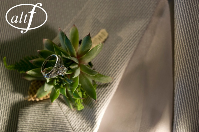 Succulent boutonniere by Layers of Lovely