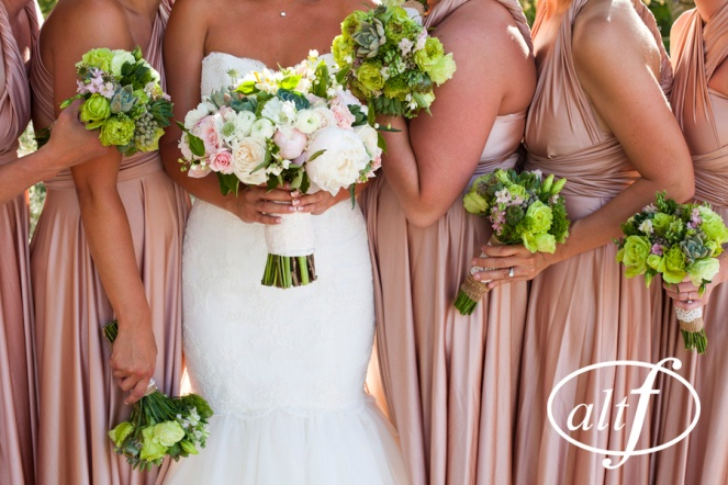 Bridal party florals for Springs Preserve Wedding by Layers of Lovely Floral Design