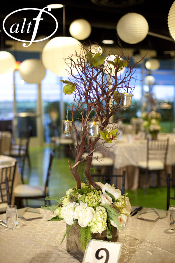 Manzanita centerpiece by Layers of Lovely Floral Design