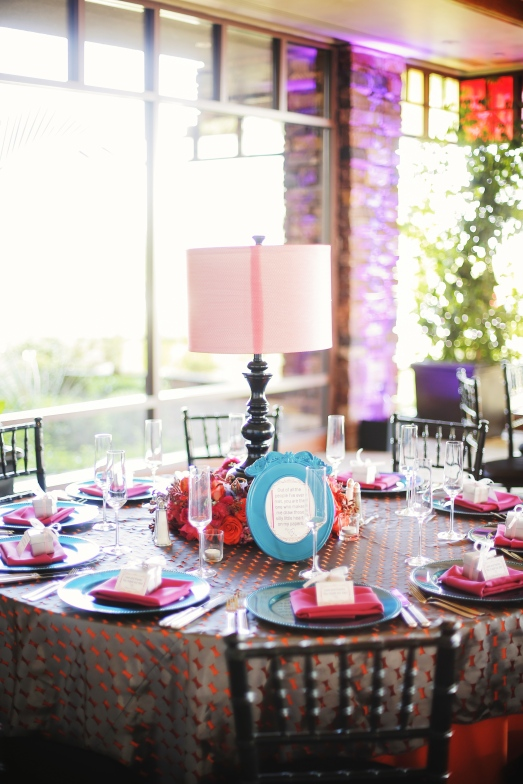 Lamp centerpiece at Red Rock Country Club by Layers of Lovely Floral Design