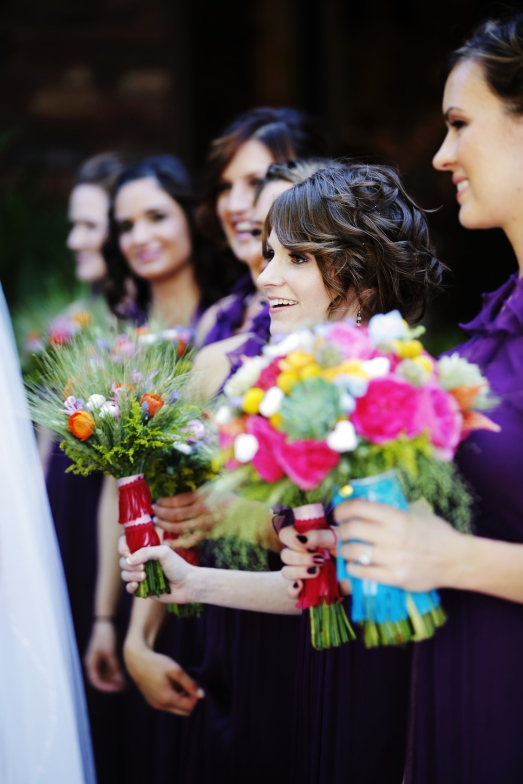 Fun bridal party florals by Layers of Lovely Floral Design