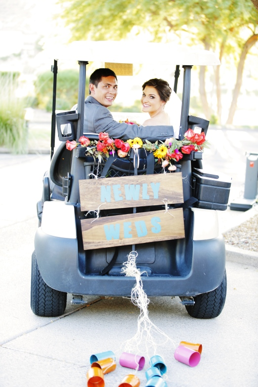 Golf cart getaway at Red Rock Country Club