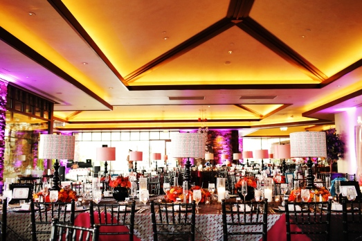 Red Rock Country Club reception by When Pigs Fly Events and Layers of Lovely Floral Design
