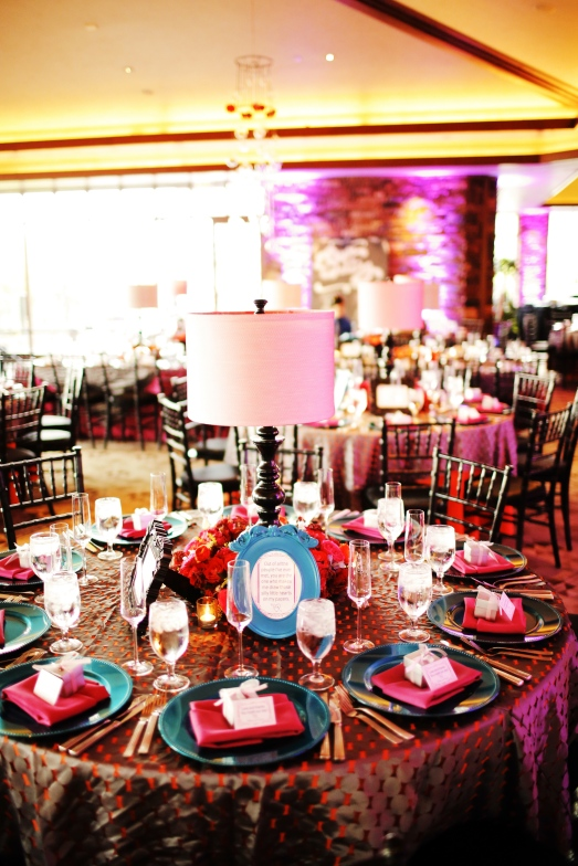 Lamp Centerpieces at Red Rock Country Club by Layers of Lovely Floral Design