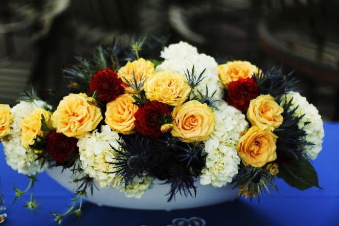 Primary color floral arrangement by Layers of Lovely Floral Design