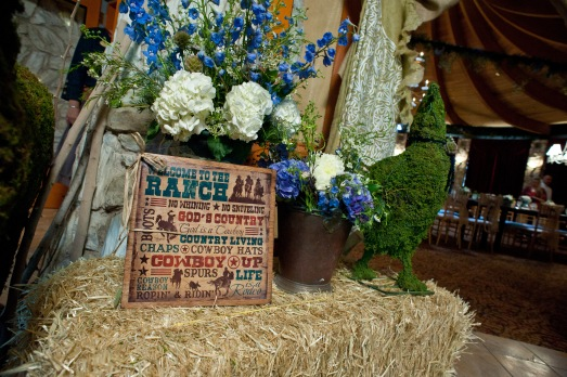 Cowboy themed baby shower by Layers of Lovely Floral Design at Las Vegas Country Club