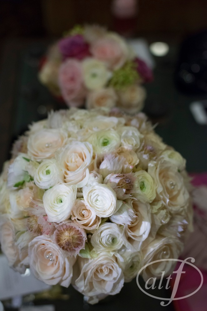 Blush and ivory bridal bouquets by Layers of Lovely Floral Design
