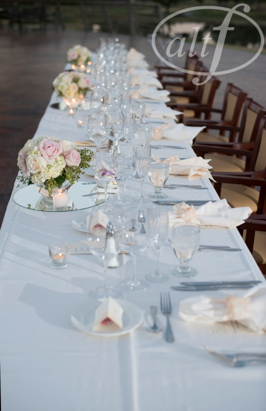Head table florals by Layers of Lovely