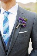 Purple succulent boutonniere
