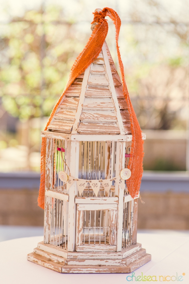 Chippy bird cage card holder from Layers of Lovely