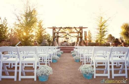 Springs Preserve Las Vegas Wedding ceremony decor by Layers of Lovely