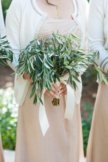 Olive branch bridesmaids bouquet by Layers of Lovely