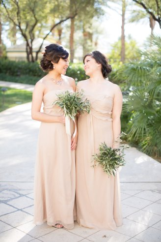 Olive branch bridesmaids bouquets