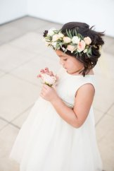 Sweet flower girl halo