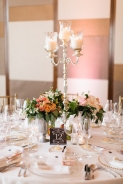 Round tabled with candelabras and florals
