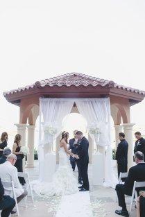 Westin Lake Las Vegas Wedding. Black, white and gold color scheme.