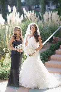 Black and white wedding, Westin Lake Las Vegas Wedding, Classic Wedding, Black Bridesmaids Dress, White Bridal Bouquet, Layers of Lovely Floral Design, Scheme Events, Adam Trujillo Photography