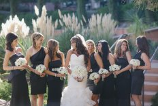 Classic black and white wedding at Westin Lake Las Vegas