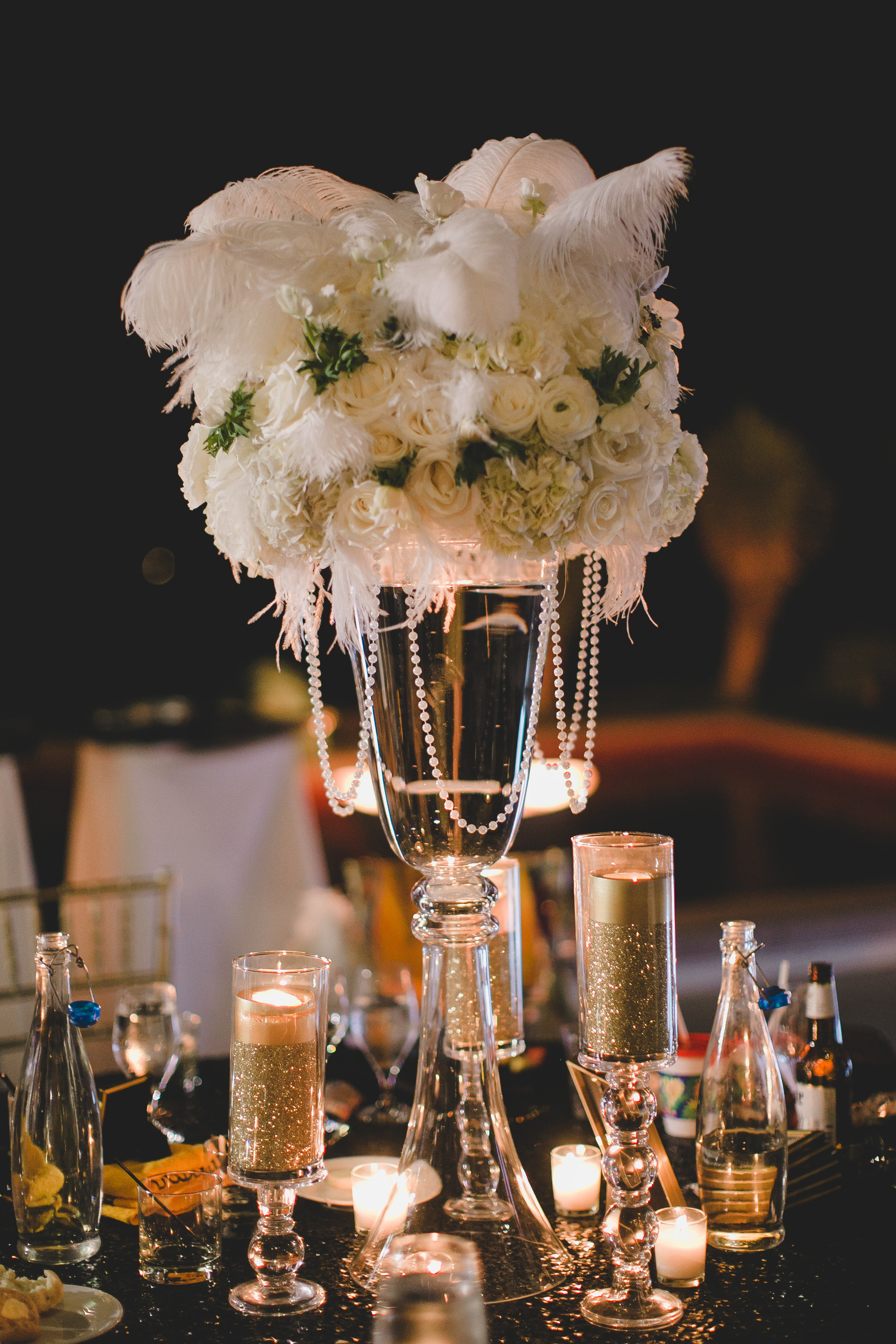 Famous Black Feather Centerpieces For Wedding Collection Wedding