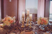 Blush white and gold vintage garden inspired wedding at St. Francis of Assisi and Dragon Ridge Country Club. Scheme Events, Layers of Lovely Floral Design and Ostara Photography.