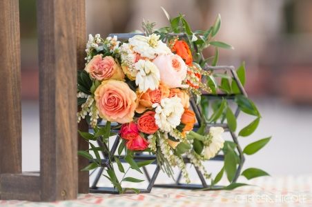 August wedding in Las Vegas at the M Resort. Florals by Layers of Lovely, Coordination by Scheme Events, Photography by Chelsea Nicole, Officiating by Peachy Keen Unions by Angie Kelly. Peach wedding. Las Vegas Wedding. Summer Wedding.